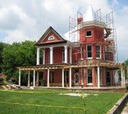 Erneuerung eines Hauses Stockbild