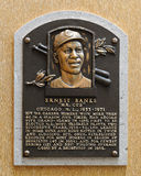Ernie Banks Hall de la placa de la fama fotografía de archivo libre de regalías