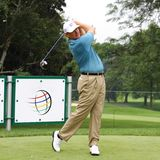 Ernie Els with driver club Stock Photography