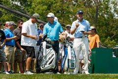 Ernie Els and Justin Leonard at the Memorial Tournament Royalty Free Stock Image