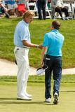 Ernie Els and Justin Leonard at the Memorial Tournament Royalty Free Stock Images