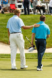 Ernie Els and Justin Leonard at the Memorial Tournament Royalty Free Stock Photo
