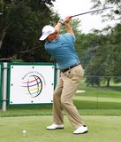 Ernie Els sets up his shot Stock Photos