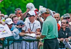 Ernie Els signs autographs Royalty Free Stock Photo