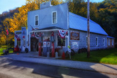 Ernie's Garage. A sort of informal museum in Whalen Minnesota Stock Image
