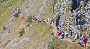 Ernio, Euskadi - 21 day of September: Pilgrimage to Mount Ernio. In September 2008 Royalty Free Stock Photography
