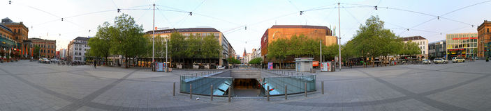 Ernst August Platz Hannover Royalty Free Stock Photo