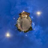Ernst-August Plaza in Hannover. Little Planet. Stock Photography