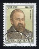 Ernst Mach. AUSTRIA - CIRCA 1988: stamp printed by Austria, shows Ernst Mach, circa 1988 Stock Photography