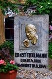 Ernst Thälmann minnesmärke Arkivfoton