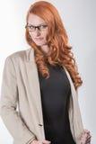 Ernste Berufsfrau Lizenzfreie Stockbilder