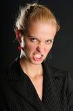 Ernste Geschäftsfrau Stockfoto