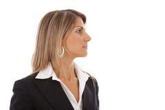 Ernste Geschäftsfrau lizenzfreies stockfoto