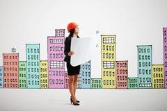 Ernste Geschäftsfrau lizenzfreies stockbild
