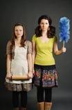 Ernste Hausfrauen Lizenzfreies Stockbild