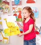 Ernste Kindlackabbildung. Lizenzfreie Stockfotografie