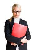 Ernste schauende Geschäftsfrau. Stockbild
