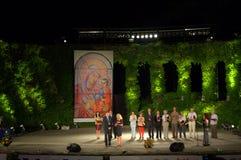 Ernste Zeremonie Varna-Theater, Bulgarien Lizenzfreies Stockbild