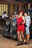 Ernste zwanziger Jahre Hispano-Amerikaner-Frauen Stockbild