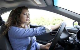 Ernster Fahrer Lizenzfreies Stockfoto