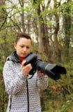 Ernster Fotograf Stockbilder