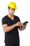 Ernster junger Vorarbeiter Stockbilder