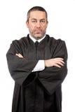 Ernster männlicher Richter Stockfotografie