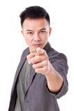 Ernster Mann, der auf Sie zeigt Lizenzfreie Stockfotografie