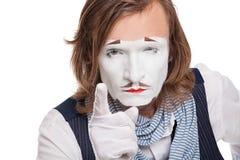 Ernster Pantomimeschauspieler lizenzfreies stockbild