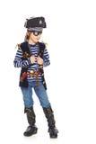 Ernster Pirat des kleinen Jungen Lizenzfreie Stockfotografie