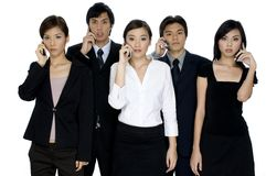Ernstes Geschäfts-Team stockbild