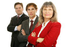 Ernstes Geschäfts-Team Lizenzfreies Stockfoto