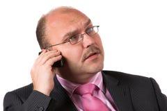 Ernstes Gespräch Lizenzfreies Stockfoto