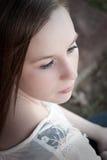 Ernstes Mädchen Lizenzfreies Stockfoto