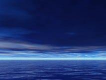 Ernstig Blauwe Overzees Stock Foto