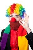 Ernstige Aziatische clown Stock Afbeelding