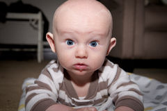 Ernstige Baby Royalty-vrije Stock Foto