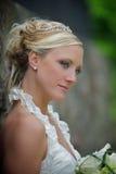 Ernstige bruid Stock Afbeeldingen