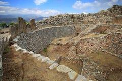 Ernstige cirkel in Mycenae royalty-vrije stock afbeeldingen