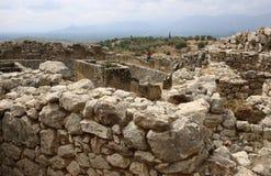Ernstige cirkel in Mycenae stock fotografie