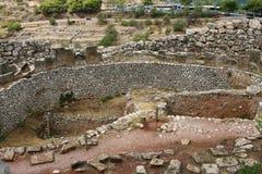 Ernstige cirkel in Mycenae stock afbeeldingen