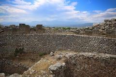 Ernstige cirkel in Mycenae stock foto