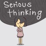 Ernstige Denkende Vrouw Royalty-vrije Stock Afbeelding