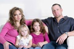 Ernstige Familie Stock Foto