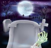 Ernstige Halloween-achtergrond Stock Afbeeldingen