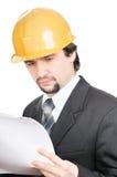 Ernstige ingenieur Stock Foto