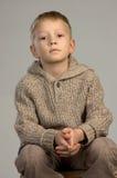 Ernstige jongen Royalty-vrije Stock Fotografie