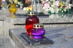 Ernstige kaarsen Stock Foto's
