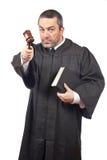 Ernstige mannelijke rechter Royalty-vrije Stock Fotografie