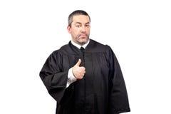 Ernstige mannelijke rechter stock foto